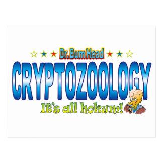 Cryptozoology Dr. B Head Postcard