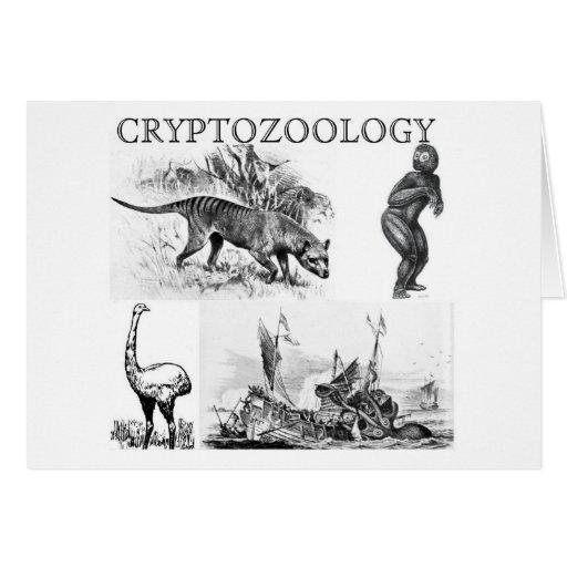cryptozoology greeting card