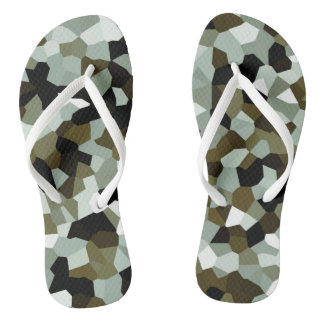 Crystal Abstract Pattern Flip Flops