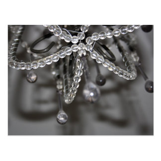 Crystal and Bead Chandelier Post Card