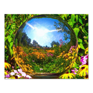 Crystal Ball 11 Cm X 14 Cm Invitation Card