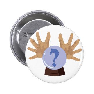 Crystal Ball 6 Cm Round Badge