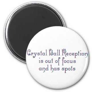 Crystal Ball 6 Cm Round Magnet