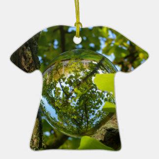Crystal Ball in Gingko tree Ceramic T-Shirt Decoration
