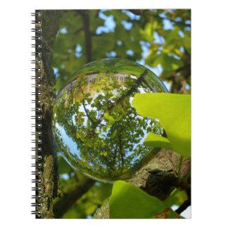 Crystal Ball in Gingko tree Notebook