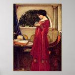 Crystal Ball John Waterhouse Pre Raphaelite Poster