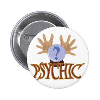 Crystal Ball Psychic 6 Cm Round Badge