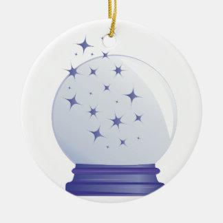 Crystal Ball Round Ceramic Decoration