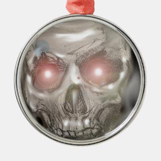 Crystal ball skull christmas ornament