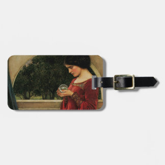 Crystal Ball Waterhouse Painting Magic Fantasy Luggage Tag