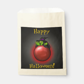 Crystal Ball Witch Black Red Favour Bags