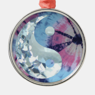 Crystal Blue Persuasion Yin and Yang Christmas Ornament