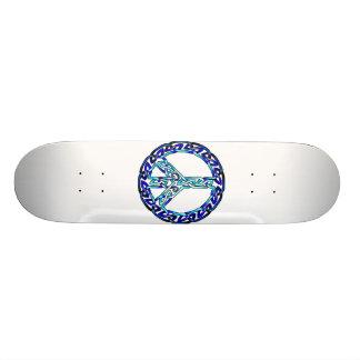 Crystal Blue Skate Board