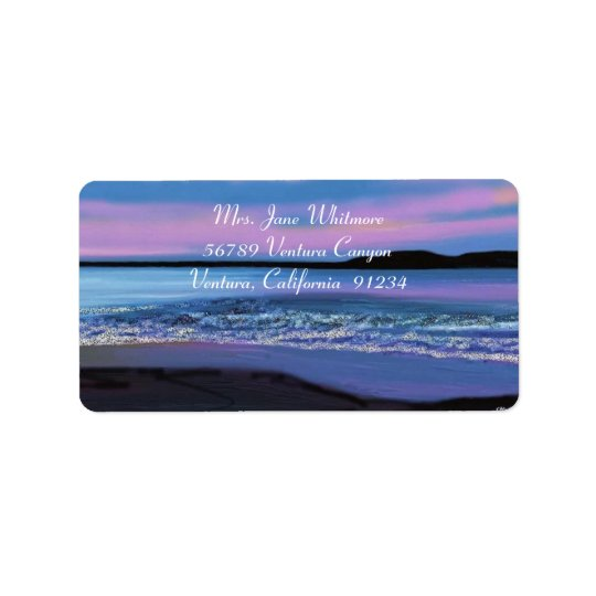 Crystal Blue Water Address Labels