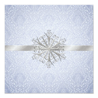 Crystal Blue Winter Wedding Invitation