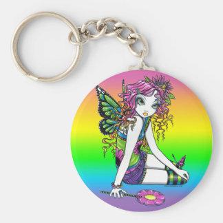 """""""Crystal"""" Candy Rainbow Butterfly Fairy Keychain"""