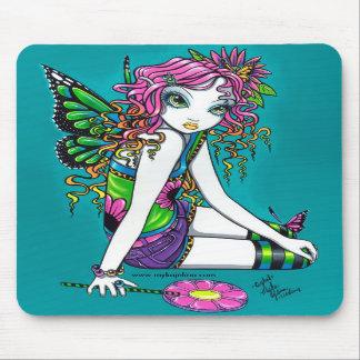 Crystal Candy Rainbow  Butterfly Fairy Mousepad