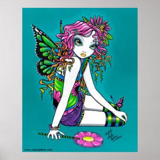 Crystal Candy Rainbow Fairy Poster
