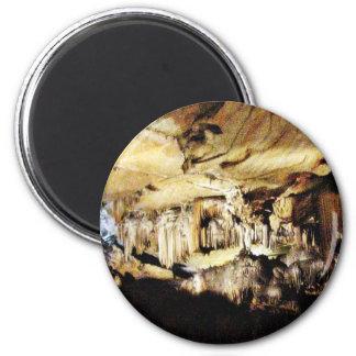 Crystal Caves In Dark 6 Cm Round Magnet