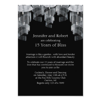 Crystal Chandelier 15th Anniversary Invitation