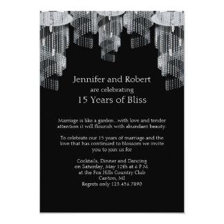 Crystal Chandelier 15th Anniversary Invitation