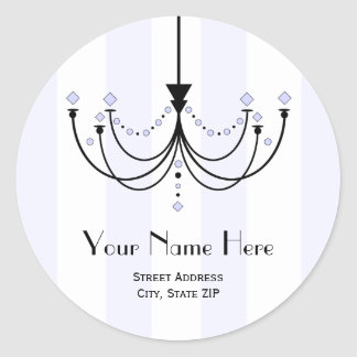 Crystal Chandelier Address Label Sticker