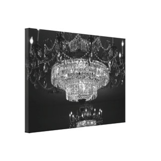 Crystal Chandelier Canvas Stretched Canvas Print