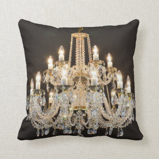 Crystal chandelier cushion