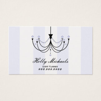 Crystal Chandelier Event Planner Business Card
