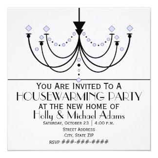 Crystal Chandelier Housewarming Party Invitation