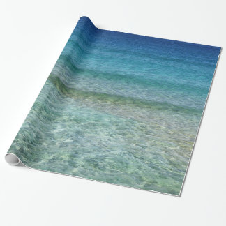 Crystal Clear Blue Ocean Water Gift Wrap Wrapping Paper