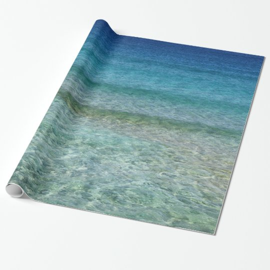 Crystal Clear Blue Ocean Water Gift Wrap Wrapping
