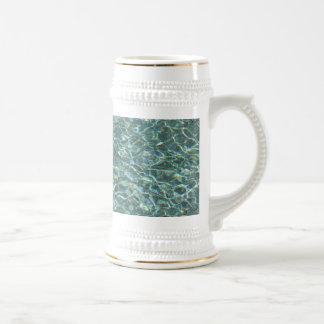 Crystal Clear Blue Water Surface Reflections Beer Steins