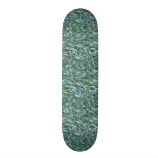 Crystal Clear Blue Water Surface Reflections Skate Boards