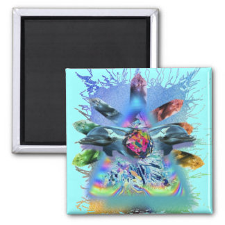 crystal conscious lite dolphins square magnet