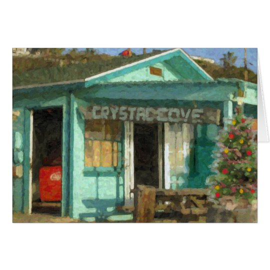 Crystal Cove Holiday Beach Shack Card