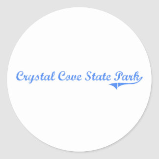 Crystal Cove State Park California Classic Design Round Sticker