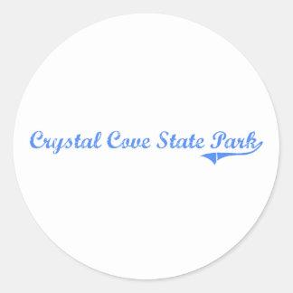 Crystal Cove State Park California Classic Design Round Sticker