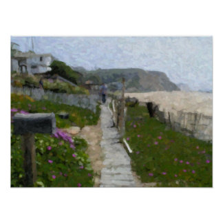 """Crystal Cove Walkway"" Poster"