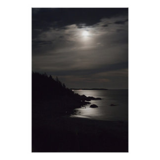 Crystal Crescent Beach Moonshine Posters