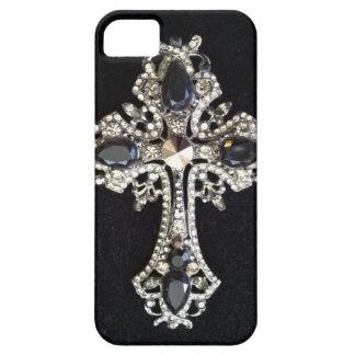 CRYSTAL CROSS BLACK VELVET PRINT iPhone 5 COVER