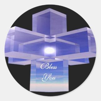Crystal Cross Sticker