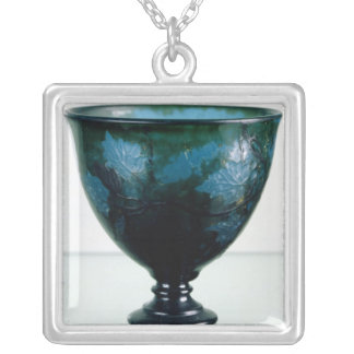 Crystal cup, 'Par une Telle Nuit', 1894 Silver Plated Necklace