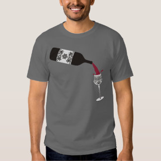 crystal decorative wine glass pouring wine bottle tshirts
