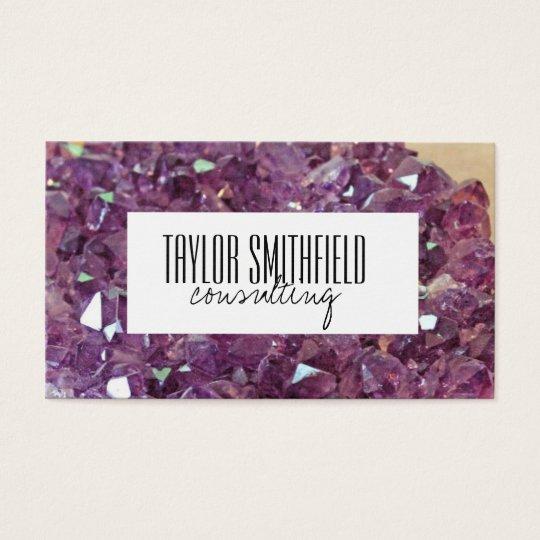 crystal diamond geode trendy modern business card