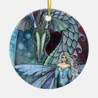 Crystal Dragon Ornament by Molly Harrison