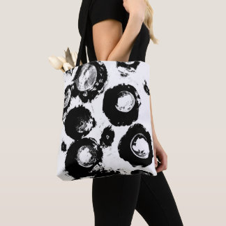Crystal Eyes Black And White Abstract Art Tote Bag