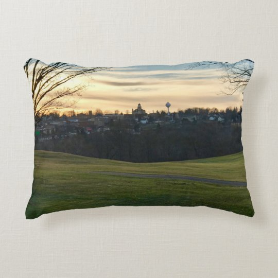 Crystal Falls, MI Skyline Accent Pillow