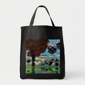 Crystal Garden, Abstract Green Gold Light Tote Bags