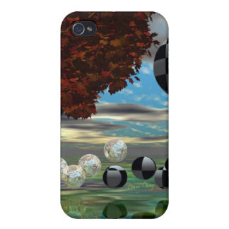Crystal Garden, Abstract Green Gold Light Cover For iPhone 4